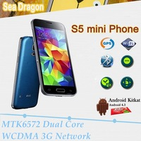 S5 Mini Phone MTK6572 Dual Core 1.2ghz Android 4.4 4.5 inch IPS 8MP Dual Camera WCDMA 3G