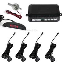 2014 New Arrival High Quality 12v Car LED Parking Reverse Backup Radar 4 Sensor System B16 1459