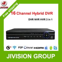 16CH Hybrid DVR NVR ONVIF 1080P HDMI HVR network video recorder H.264  16 channel Standalone DVR P2P Cloud CCTV DVR