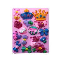 New Arrival Fashion Crown And Butterfly Shape Silicone 3D Fondant Cake Lace Mold Tools For Decorating