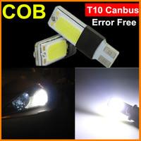 2x High Power T10 Canbus COB W5W Led 168 2825 LED Error Free Auto Car Styling Light Bulb Lamp White Parking Led License Light