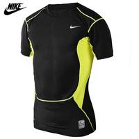 NIKE 2014 New Men's t-shirt Casual T-Shirts Tee Shirt Slim Fit Tops New Sport Shirt tight-fitting Sport T-shirt Free Shipping!