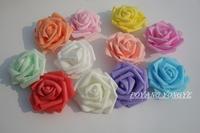 7cm 13colors 100pcs available arch flower head Wedding bouquet artificial PE foam rose head fake flower wedding decor A26