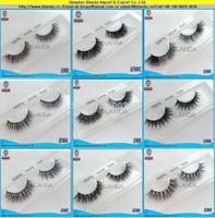 UPS Free Shipping super soft and natural 50pcs/lot High Quality 100% Natural mink eyelash Real Mink Hair False Eyelashes