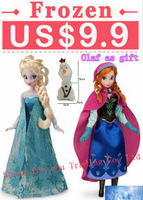 Hot Sale! Fashion Doll 2PCS  Frozen Princess11.5 Inch Frozen Doll Elsa and Frozen Anna Good Girl Gifts Girl Doll free shipping