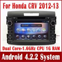 Android 4.2 Car DVD Player for Honda CRV CR-V 2012 2013 with GPS Navigation Radio TV BT USB AUX MP3 DVR 3G WIFI 1.6G CPU+1G RAM