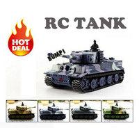 FreeShipping 2014 New Mini 1:72 RC Toy Tank 14CH Radio Remote Control Tiger Battle RC Tank mini Toy Tank Gift for Kids