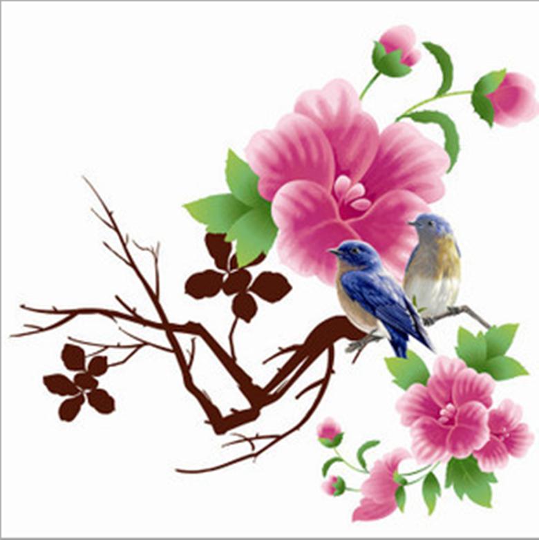 Keuken Decoratie Folie : Flower Wall Decorations Stickers
