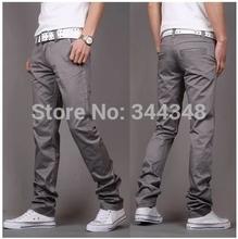Fashion 2014 New High quality Casual Mens pants gray/khaki/white design business cotton trousers moletom everlast cargo pants(China (Mainland))