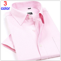 2015 Fashion Summer men shirt short sleeve Business Twill button Shirts Dobby Cloth high quality  M L XL XXL XXXL Free Shipping