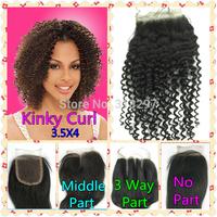 Brazilian Virgin Hair Deep Wave 3 Part Way 3.5x4 Top Lace Closure Front Closure Virgin Deep Wave Virgin Brazilian Hair Products