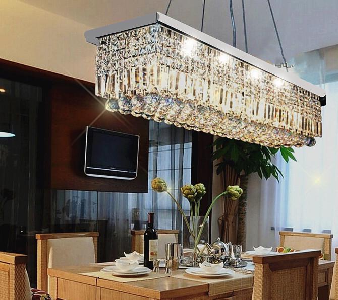 Rectangle chandelier reviews online shopping reviews on rectangle chandelier - Dining room crystal lighting ...