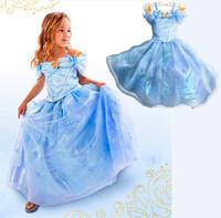 2014 new arrival frozen dresses, European and American fashion girls dress, cartoon bud silk dress. Elsa dress.  Children dress