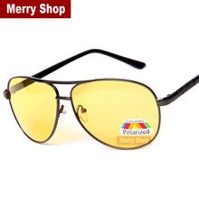 2014 New Men 100% Polarized Sunglasses Men Brand Mirror Driver Driving Sunglass Metal Frame Fishing glasses High quality