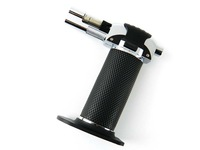 New Black Portable Adjustable Butane Torch Cigarette Tobacco Cigar Lighter