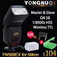 Yongnuo YN568EX YN-568EX TTL High Speed Flash Speedlite for Nikon D750 D7000 D4 D800 D610 D600 D800E D7100 D7200 D5200 D5300 DF