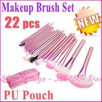 22 pcs Pink Brushes makeup brushes tools make up sets cosmetic tools 2014 makeup brushes set with pink case