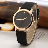 New Women Fashion Bright Leather Strap Watches Casual Digit Ladies Wrist Quartz Watch Dress Watch