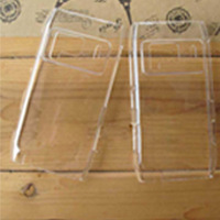 Free shipping 1pcs transparent white pc hard case back cover for Nokia N8 with best price