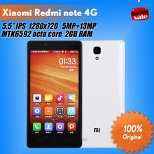 """Original Xiaomi Redmi Note Red rice note Hongmi note 4G LTE Phone Qualcomm Quad Core 5.5"""" 1280x720 2GB RAM 8GB ROM 13MP(China (Mainland))"""