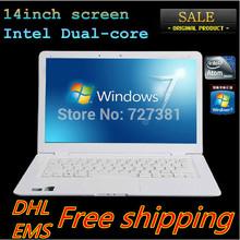 13.3 Inch Laptop PC Ultrabook Computer Intel Dual core CPU Windows7 2GB RAM Harddisk WIFI Russian Spanish Keyboa