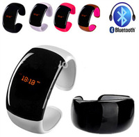 Hot HX-001 Bluetooth Bracelet Smart Watch OLED Display with Caller ID Display Answer/Hang Up Call and Music Player Free Shipping