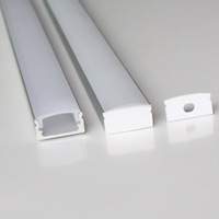 30pcs a lot, 1m per piece anodized aluminum profile extrusion for led flexible strips light
