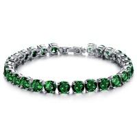 OPK JEWELRY Luxury AAA+ Swiss Cubic Zirconia Diamond Tennis Crystal Bracelet & Bangles 18K gold Plated