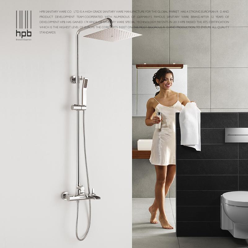 spedizione gratuita HPB nuovo tipo cascata set doccia acqua calda e fredda miscelatore doccia con soffione doccia e doccia a mano hp1009