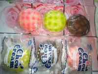10pcs/lots 10cm green,pink ,chocolate colors melon bun squishy in chou cream packaging