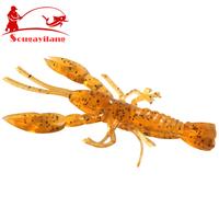 Promotion ! 100Pcs/Lot Fishing Lure Fish Trout Crap Shrimp Minnow Soft Brown  Bait Fishing Tackle Soft Fishing Lures