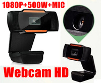 Hot Sale 1080P 500w USB 2.0 HD Webcam Camera Web Cam Digital Video Web camera with  MIC for Computer PC Laptop Free Shipping