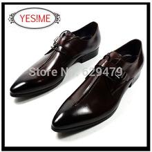 NOVO 2014 homens Estilo de luxo italianas sapatos de couro genuíno homens apontou toe vestido sapatos oxfords homens de negócios da marca tamanho 37-45 MP9203(China (Mainland))