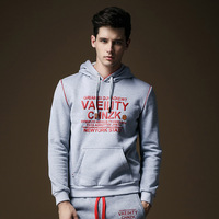 Hoodies & Sweatshirts Fashion pullover 2014 Hot style Trend Leisure fleece Men's clothing Letter printed tops Drop-shipping