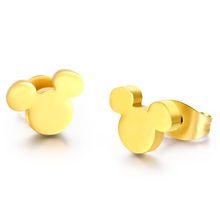 Fashion stud earrings new teddy bear earrings gold silver color stud earrings for women jewelry