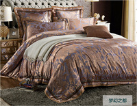 2014 summer tribute silk jacquard bedding set king queen size bedclothes bed set