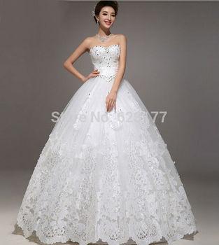 Yayiku роскошный кристалл милая с плеча свадебные платья тонкий Большой размер цвета слоновой кости свадебные платья невесты бальное платье 2015