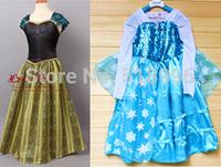 Free Ship Newest Kids girl Princess dress,Frozen anna dress,3-10T,Kids gift dress,girls evening dress top quality