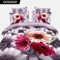 FASHION 3D BEDDING,4PCS COTTON BEDDING SET,DESIGNER DUVET COVER SET,BED SET,BED SHEET&Animal&Plant #15