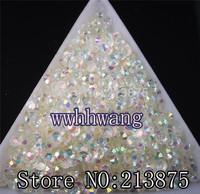 Free shipping 10000pcs SS6 Crystal White Magic color AB jelly 2mm resin crystal rhinestones Nail Art Non hotfix beads