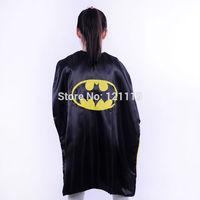90cmChildren or kids gift present cosplay Batman Cape, poncho,cloak, robe,mantle,dress smock, scarves,decorate,manteau,costume,,