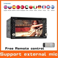 Universal Double Two 2din Car DVD GPS Radio Stereo Audio GPS Navi Navigation System Car Pc Head Unit  Autoradio+External MIC