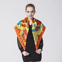 Free shipping Top Quality silk scarf women's mulberry silk large facecloth quality silk scarf 90*90 twill silk SL14AF015