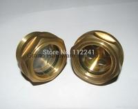"""G 3/4"""" Brass Oil Sight glass"""