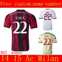 Ac Milan jersey  14 15  Best Thailand Quality New Ac Milan Home Soccer Jersey EL SHAARAWY BALOTELLI ROBINHO PAZZINI 22 KAKA