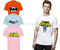 New Fashion Cartoon Batman Men T Shirts O Neck Short Sleeve Cotton Mens Shirt  Wholesale Free Shipping