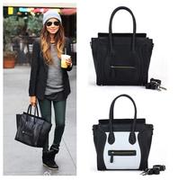 2014 new fashion high quality leather women's handbag smiley bag shoulder bag Small messenger  bag