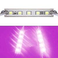 100Pcs/Lot SMD 5050 5 LED Module Waterproof IP65 DC12V Pink/Purple Color Light Bright Lamp