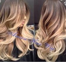 Natural Blonde Full lace wigs human hair wig with baby hair bleached knots100% human hair brazilian virgin hair free part 613#(China (Mainland))