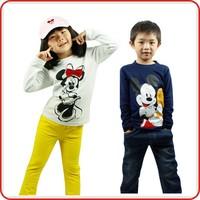 2014 boys long sleeve t shirt for children free shipping black autumn girl t-shirt  baby Lovely kids